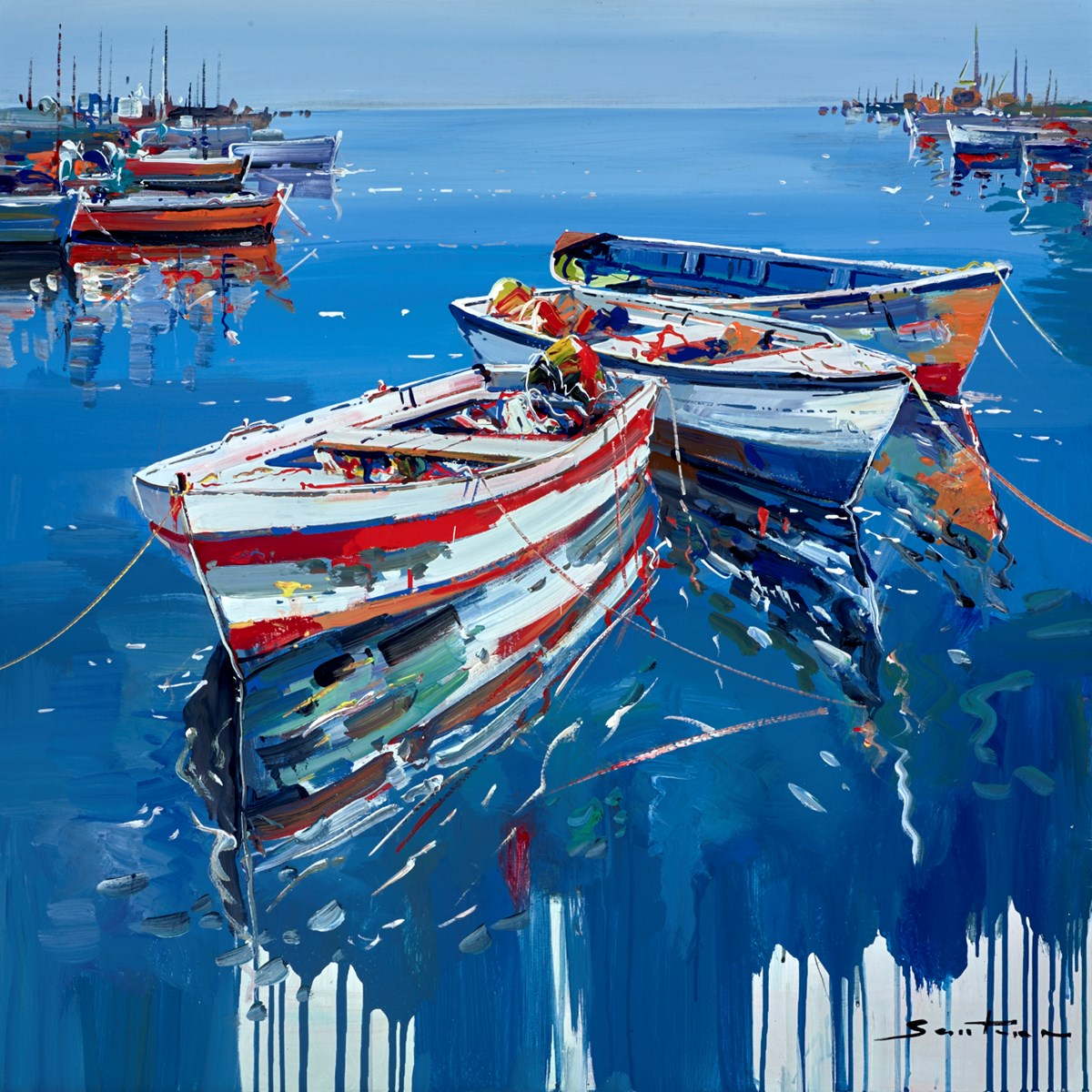 Still Waters III by santana -  sized 32x32 inches. Available from Whitewall Galleries